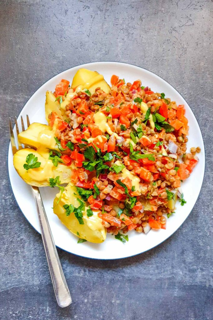 Turkish Lentil Salad with Potatoes   Hurry The Food Up