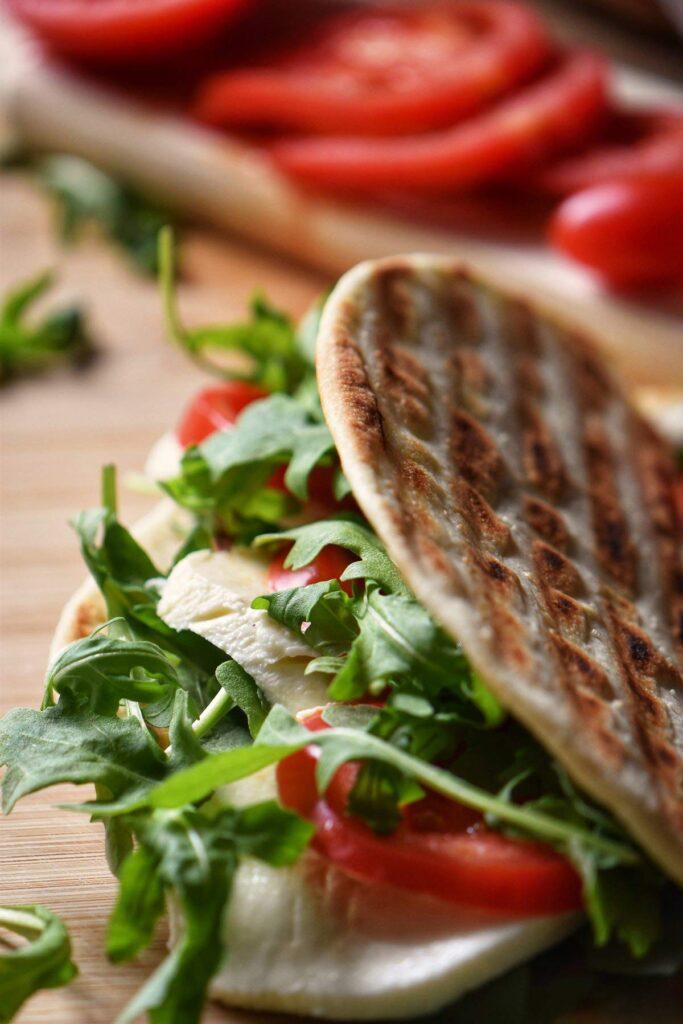 30 Best Veggie (Vegetarian) Sandwich Recipes - Vegetarian Piadina Sandwich | Hurry The Food Up