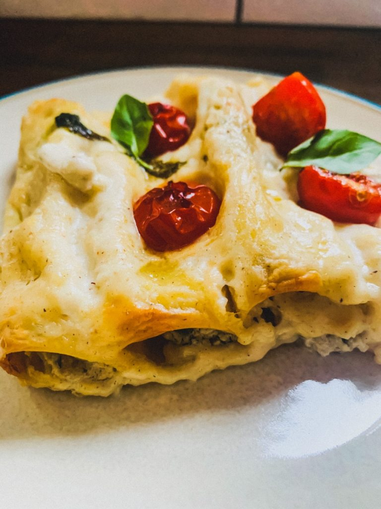 40 Delightful Vegetarian Eggplant Recipes (Vegetarian Aubergine Recipes) - Roasted Eggplant Cannelloni | Hurry The Food Up