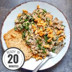Creamy Garlic Mushrooms on Toast | Hurry The Food Up