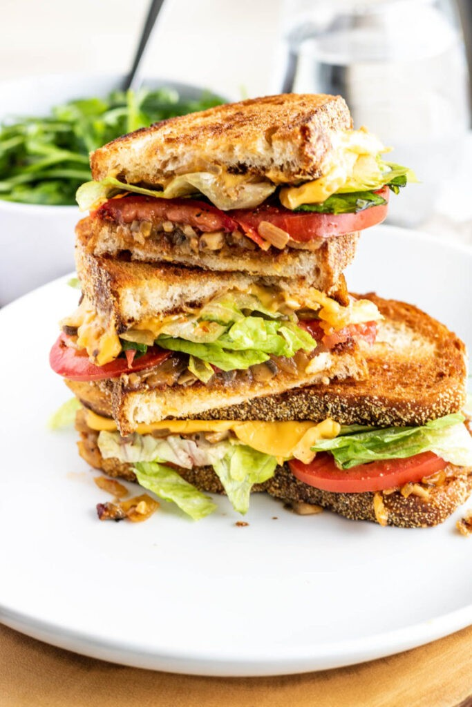 30 Best Veggie (Vegetarian) Sandwich Recipes - Vegetable Grilled Cheese Sandwich | Hurry The Food Up