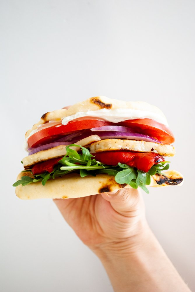 30 Best Veggie (Vegetarian) Sandwich Recipes - Halloumi Sandwich | Hurry The Food Up