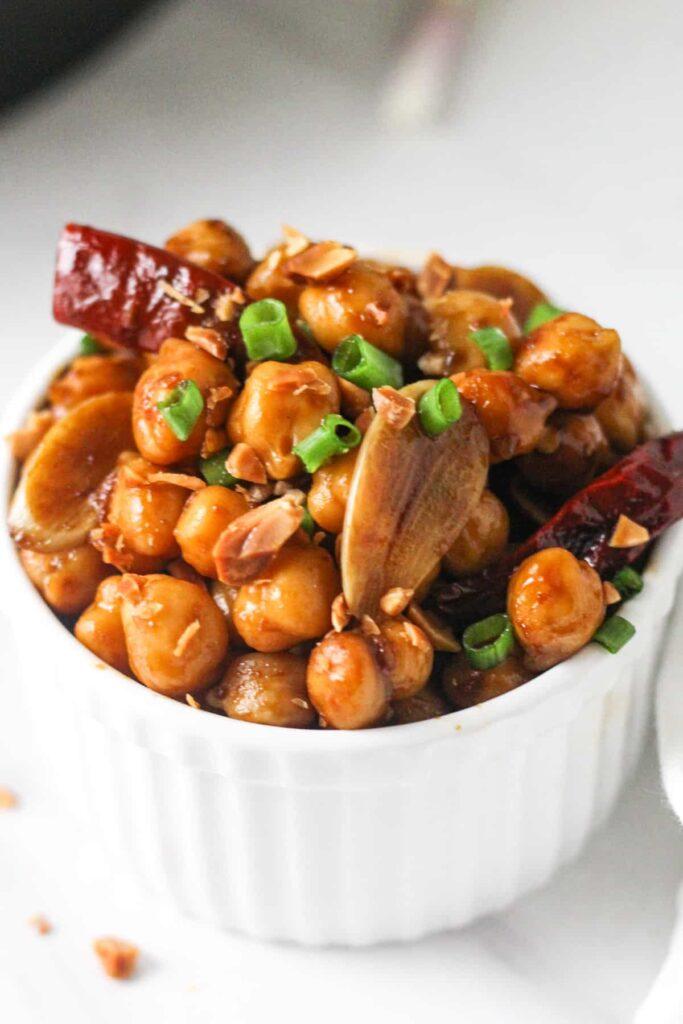 20 Vegan Stir Fry Recipes - Vegan Kung Pao Chickpeas | Hurry The Food Up
