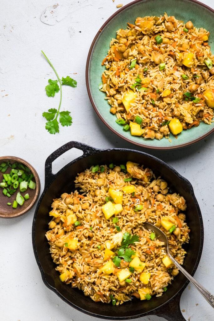 20 Vegan Stir Fry Recipes - Vegan Mango Fried Rice | Hurry The Food Up