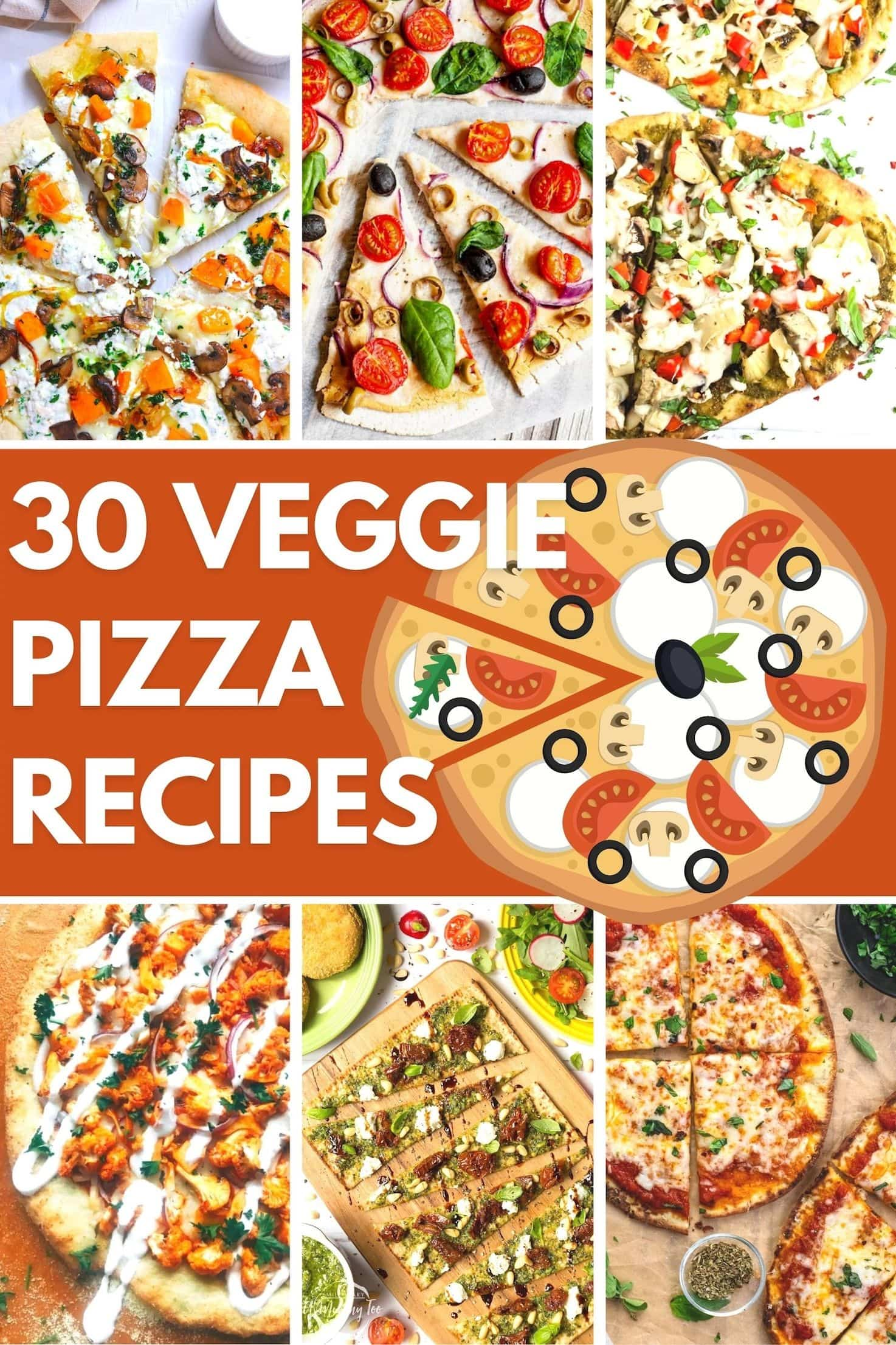 30 Best Veggie Pizza Recipes - Title image | Hurry The Food Up
