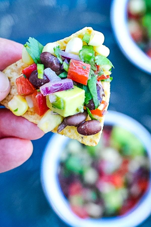 50 Vegan Mexican Recipes - Black Bean and Corn Salsa | Hurry The Food Up