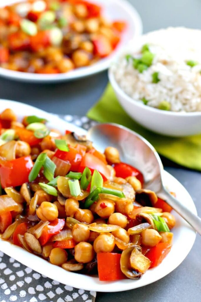 60 Vegan Asian Recipes - Chickpea Stir Fry | Hurry The Food Up
