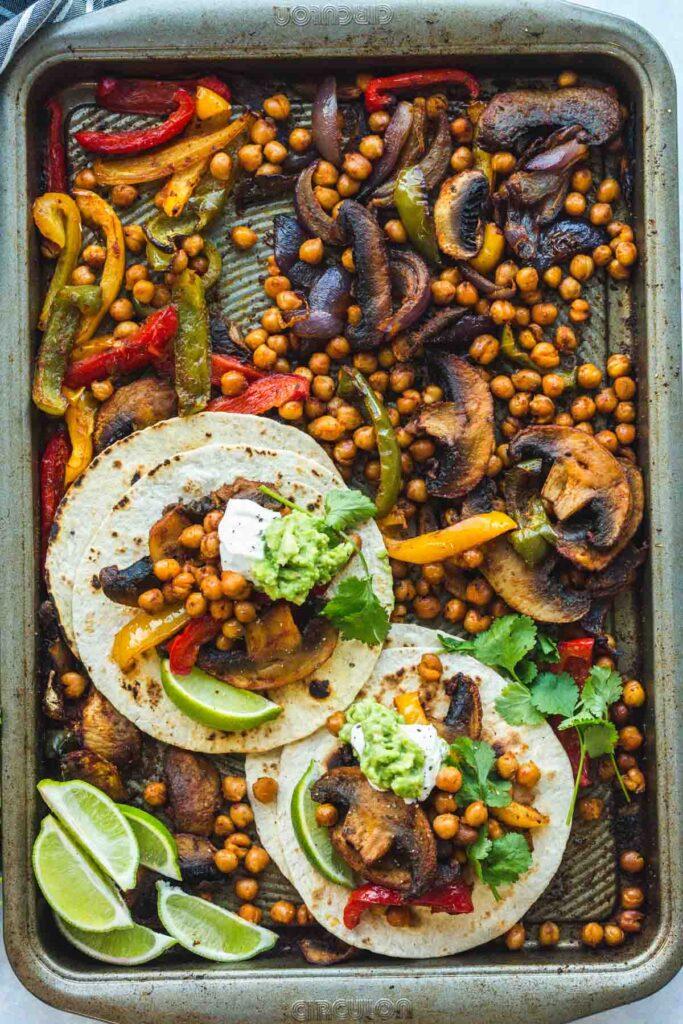 50 Vegan Mexican Recipes - Chickpea Fajitas | Hurry The Food Up