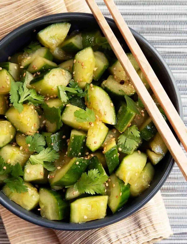 60 Vegan Asian Recipes - Chinese Cucumber Salad| Hurry The Food Up
