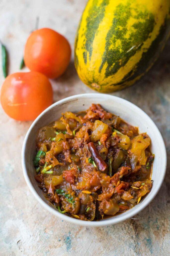 60 Vegan Asian Recipes - Dosakaya Tomato Kura Recipe | Hurry The Food Up