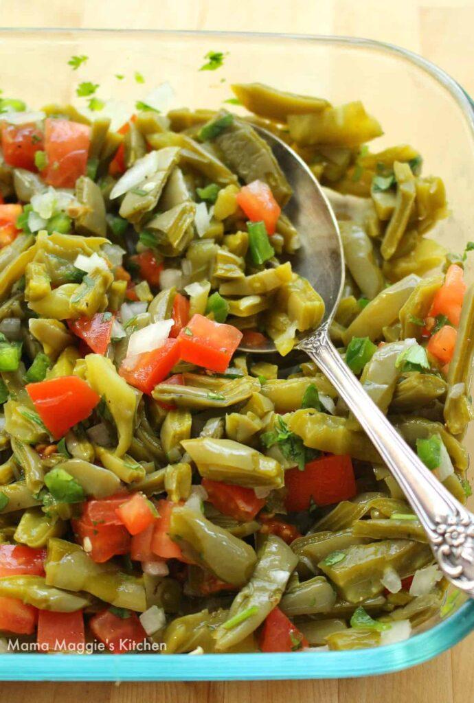 50 Vegan Mexican Recipes - Ensalada de Nopales (Cactus Salad) | Hurry The Food Up