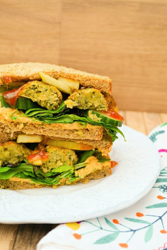 30 Best Vegan Sandwich Recipes - Falafel and Apple Sandwich | Hurry The Food Up