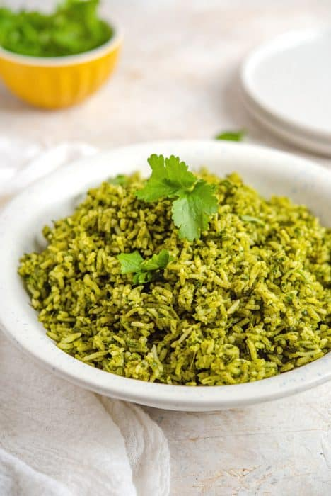 50 Vegan Mexican Recipes - Arroz Verde - Mexican Green Rice | Hurry The Food Up