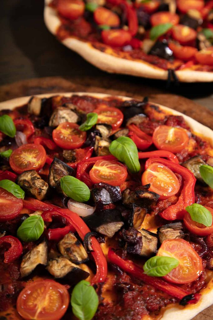 30 Best Veggie Pizza Recipes - Roast Vegetable Pizza with Basil | Hurry The Food Up