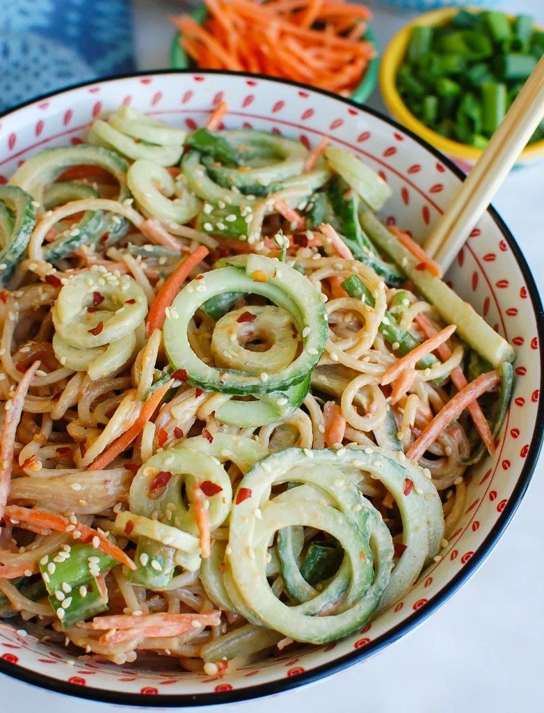 60 Vegan Asian Recipes - Sesame Noodles | Hurry The Food Up