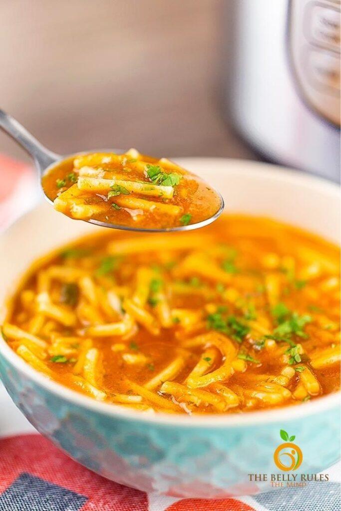 50 Vegan Mexican Recipes - Sopa de fideo - Mexican Noodle soup (Instant pot and Stove top) | Hurry The Food Up