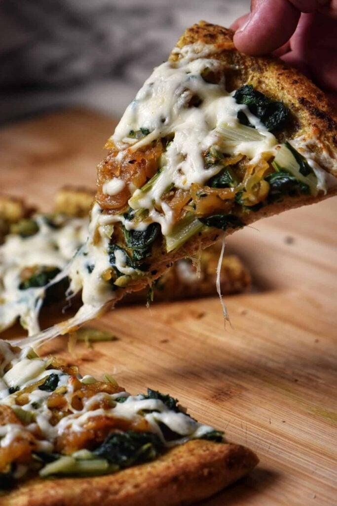 30 Best Veggie Pizza Recipes - Swiss Chard Caramel Onion | Hurry The Food Up