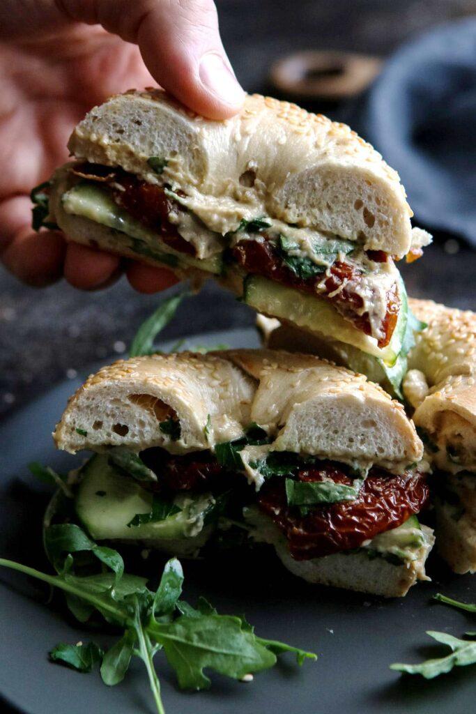 30 Best Vegan Sandwich Recipes - Ultimate Vegan Bagel Sandwich | Hurry The Food Up