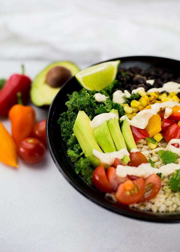 50 Vegan Mexican Recipes - Vegan Burrito Bowl | Hurry The Food Up