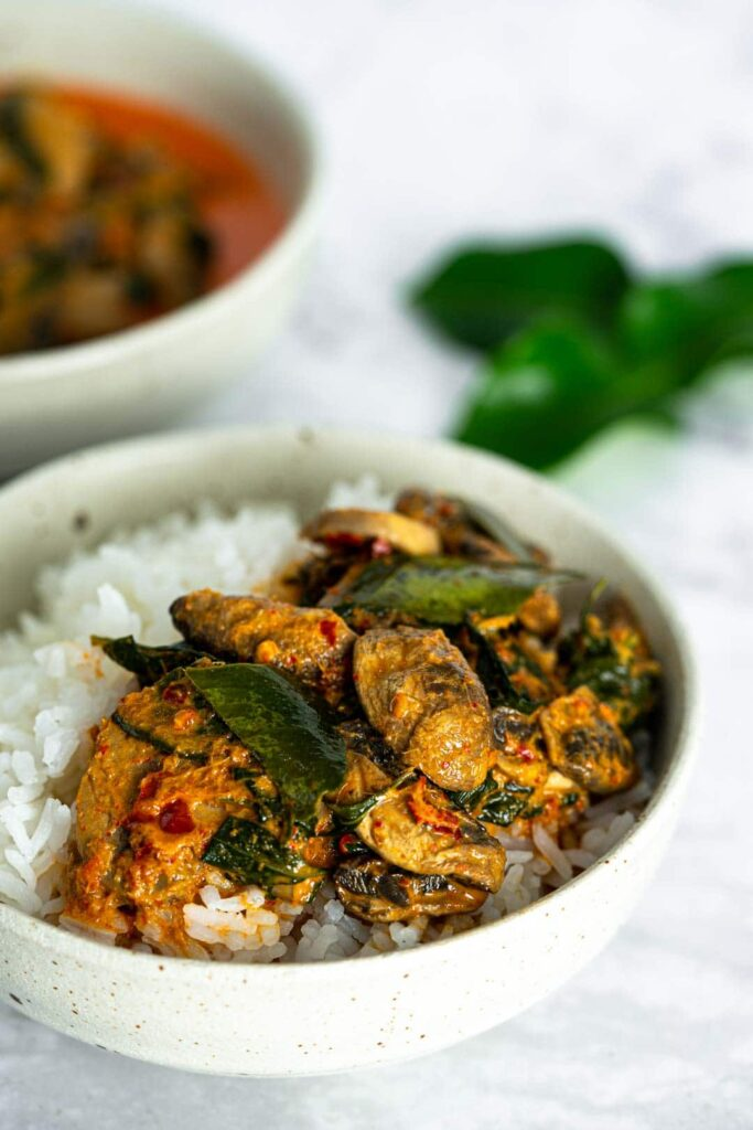 60 Vegan Asian Recipes - Vegan Thai Red Curry with Mushrooms | Hurry The Food Up