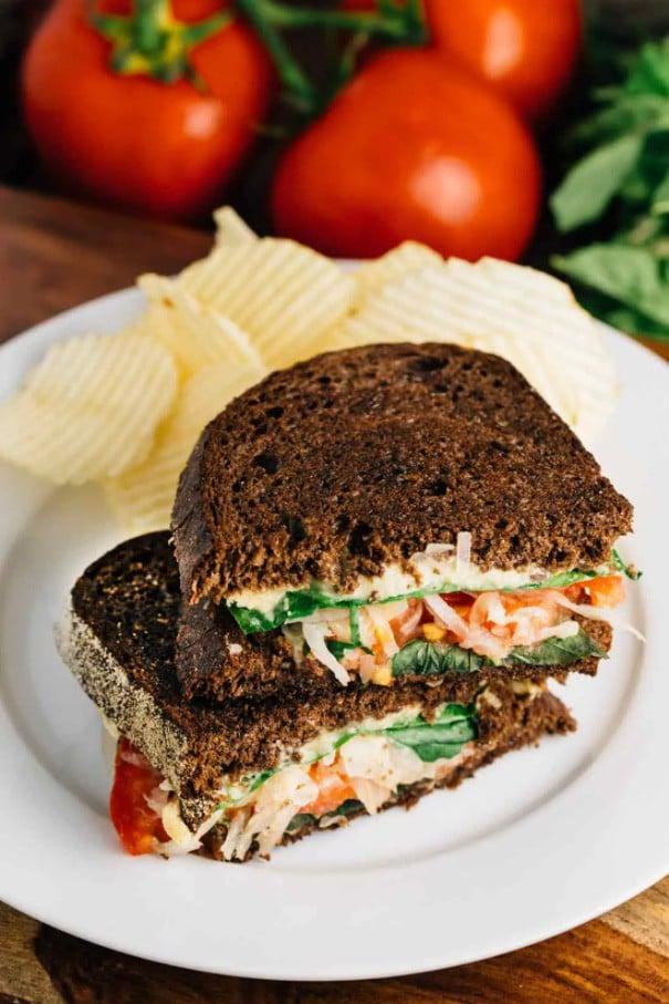 30 Best Vegan Sandwich Recipes - Vegan Reuben Sandwich with Cashew Cheese | Hurry The Food Up