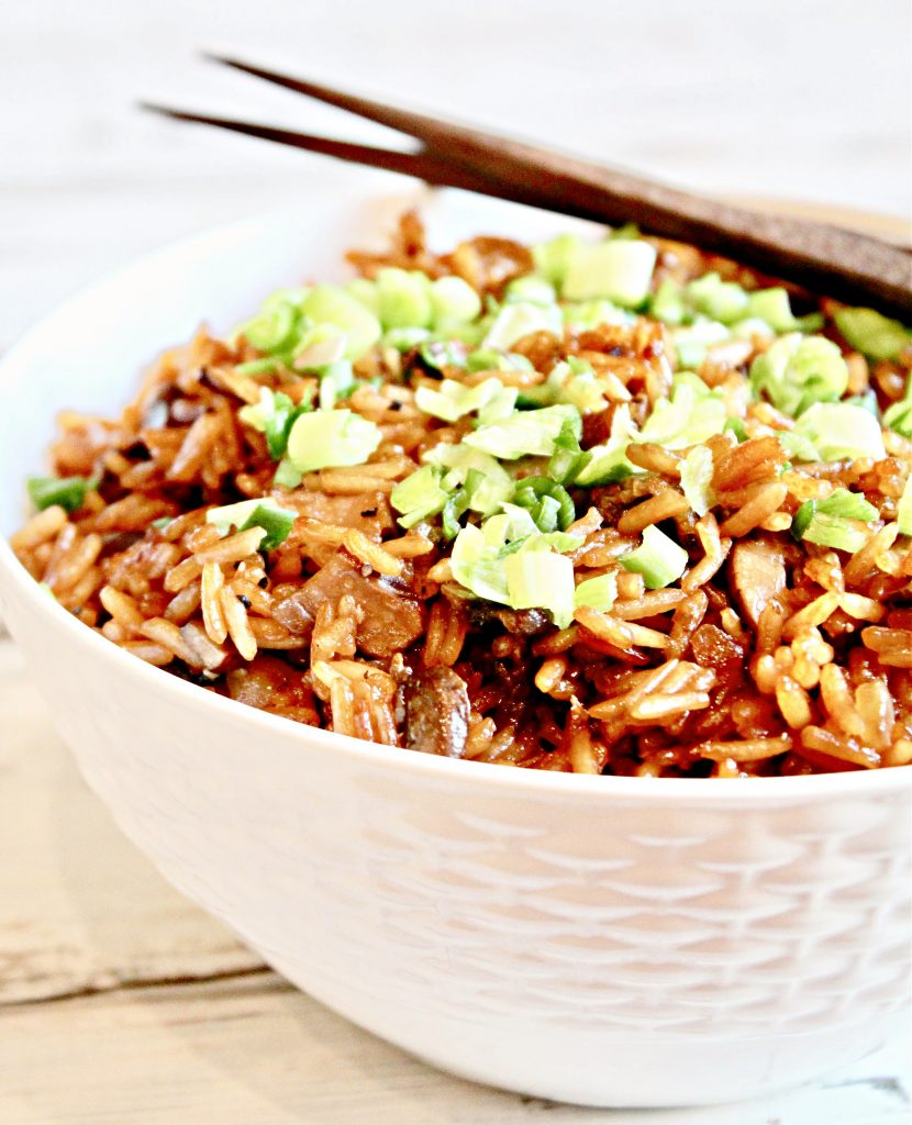 60 Vegan Asian Recipes - Asian Mushroom Rice | Hurry The Food Up