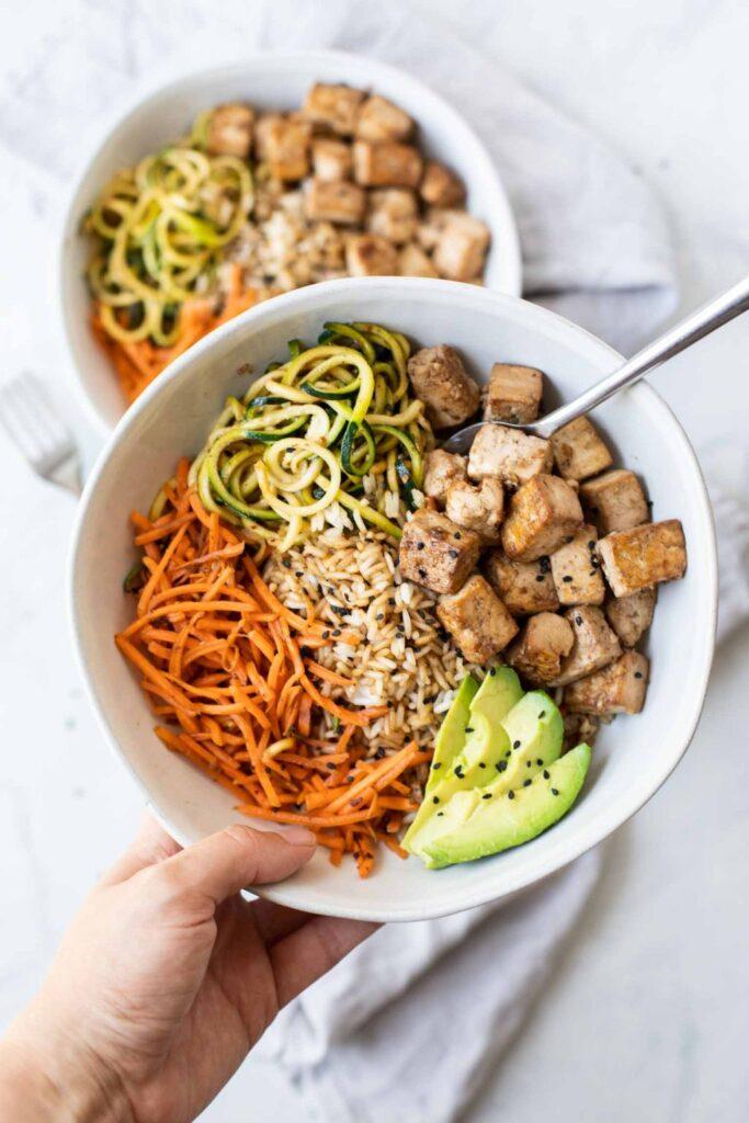 60 Vegan Asian Recipes - Asian Tofu Rice Bowls | Hurry The Food Up
