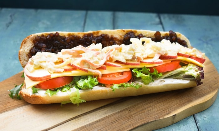 30 Best Vegan Sandwich Recipes - Vegan Cheese Ploughman's Sandwich | Hurry The Food Up