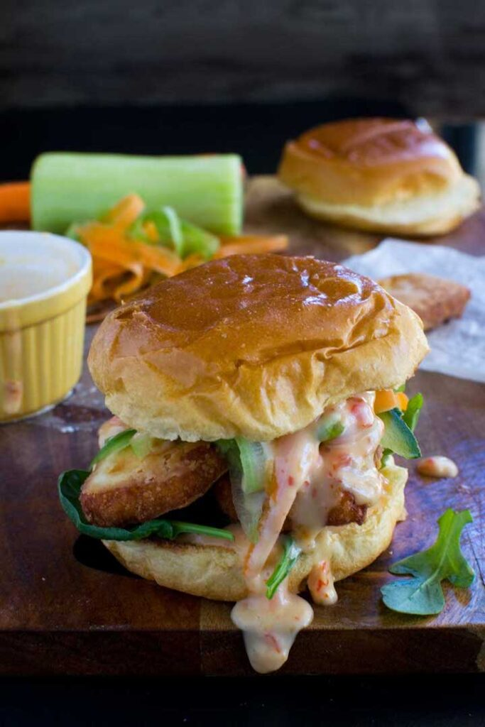 10 Best Veggie Burger Recipes in the World - Crispy Halloumi Burger | Hurry The Food Up