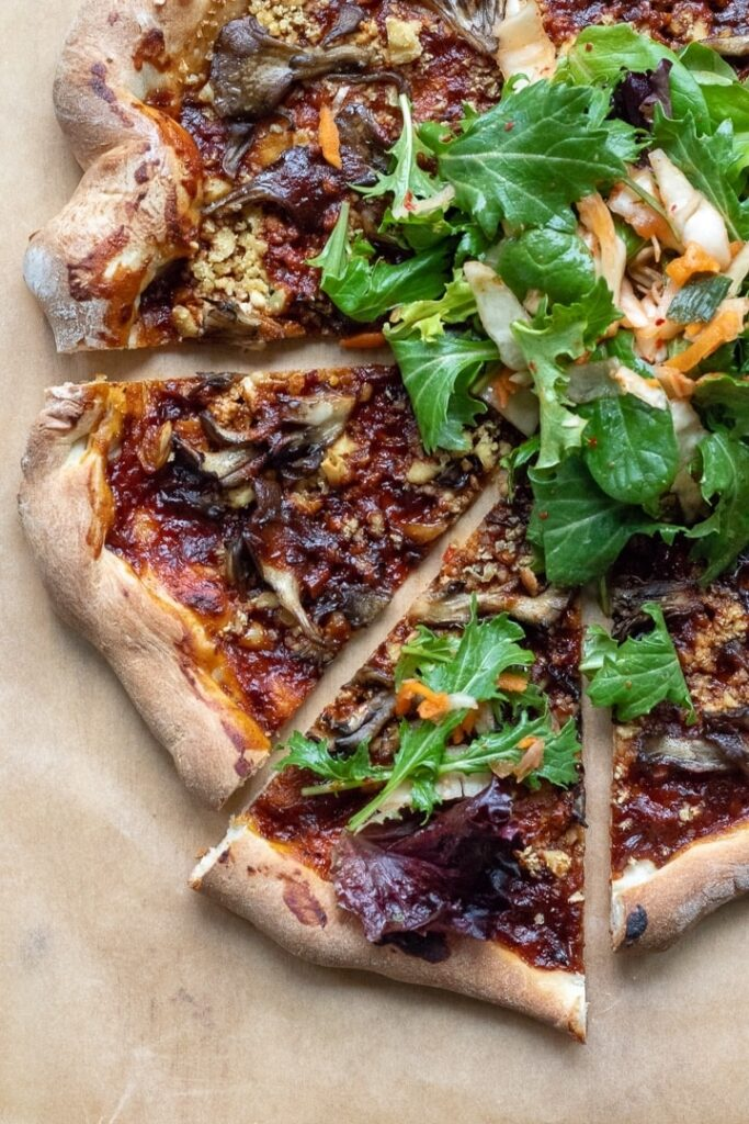 30 Ingenious Vegan Pizza Recipes - Korean Barbecue Pizza with Tofu | Hurry The Food Up