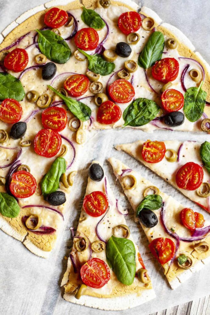 30 Best Veggie Pizza Recipes - Mediterranean Hummus Pizza | Hurry The Food Up