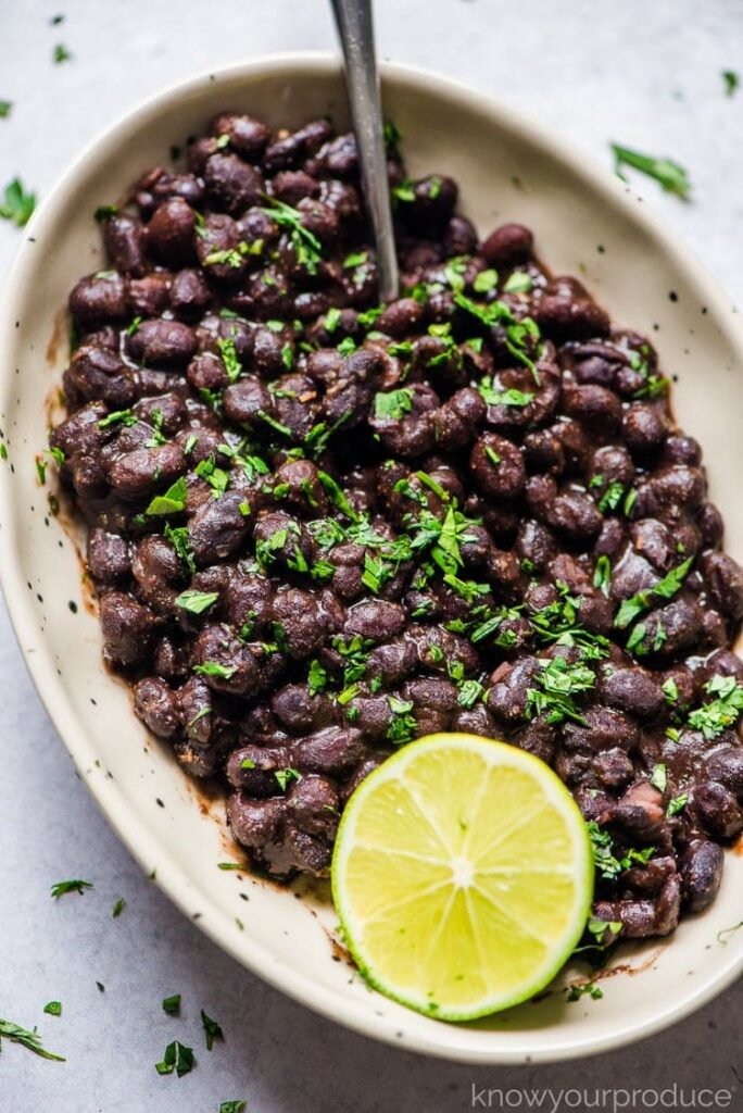 50 Vegan Mexican Recipes - Mexican Black Beans | Hurry The Food Up
