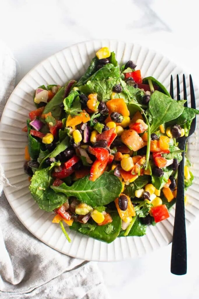 50 Vegan Mexican Recipes - Mexican Kale Salad | Hurry The Food Up