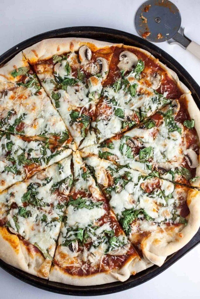 30 Best Veggie Pizza Recipes - Mushroom Arugula Pizza | Hurry The Food Up