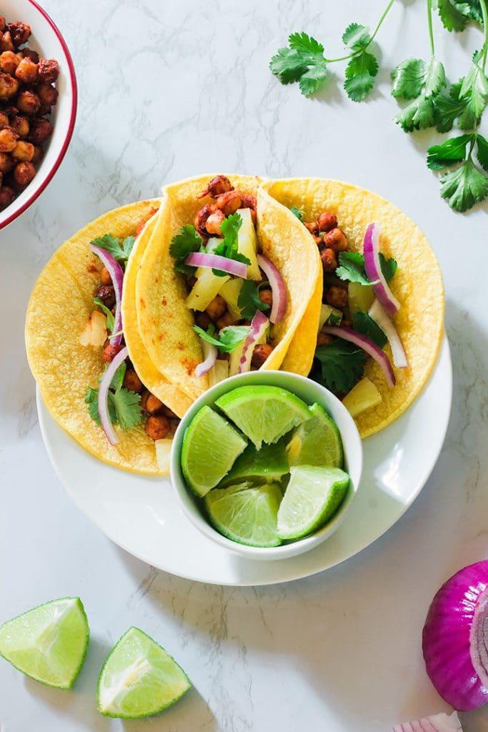 50 Vegan Mexican Recipes - Vegan Al Pastor Tacos | Hurry The Food Up