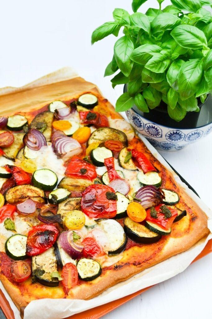 30 Ingenious Vegan Pizza Recipes - Roast Veg Cream Cheese| Hurry The Food Up