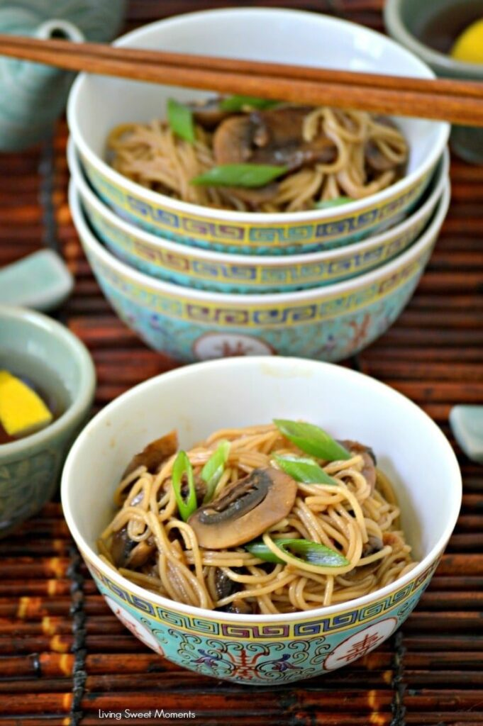 60 Vegan Asian Recipes - Spicy Sesame Noodles | Hurry The Food Up