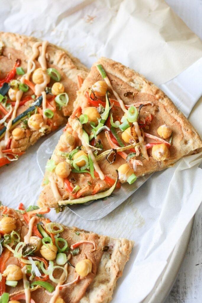 30 Ingenious Vegan Pizza Recipes -Thai Peanut Pizza | Hurry The Food Up