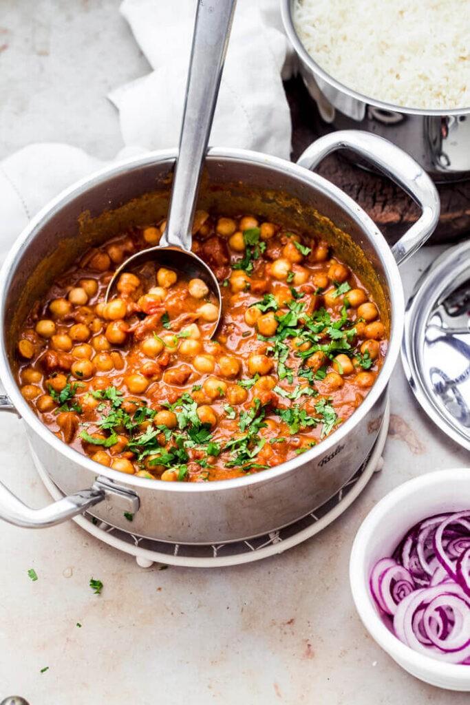 60 Vegan Asian Recipes - Vegan Chickpea Tikka Masala | Hurry The Food Up