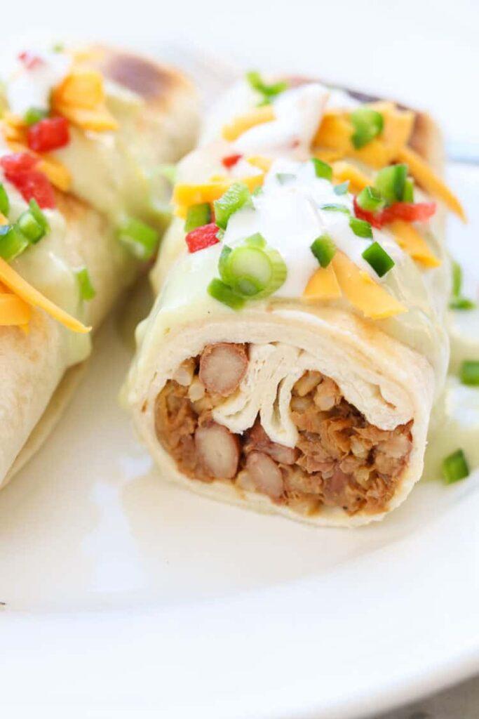 50 Vegan Mexican Recipes - Vegan Chimichangas | Hurry The Food Up