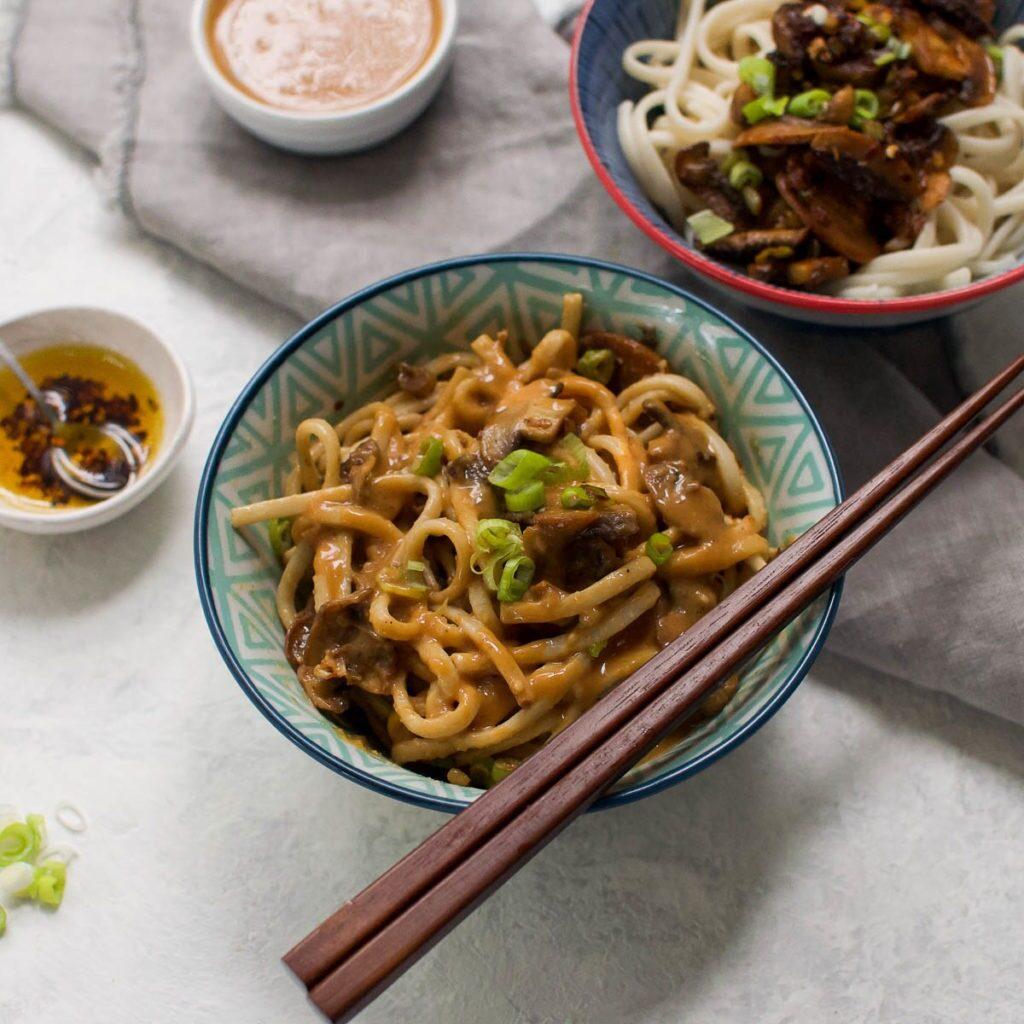 60 Vegan Asian Recipes - Vegan Dan Dan Noodles | Hurry The Food Up