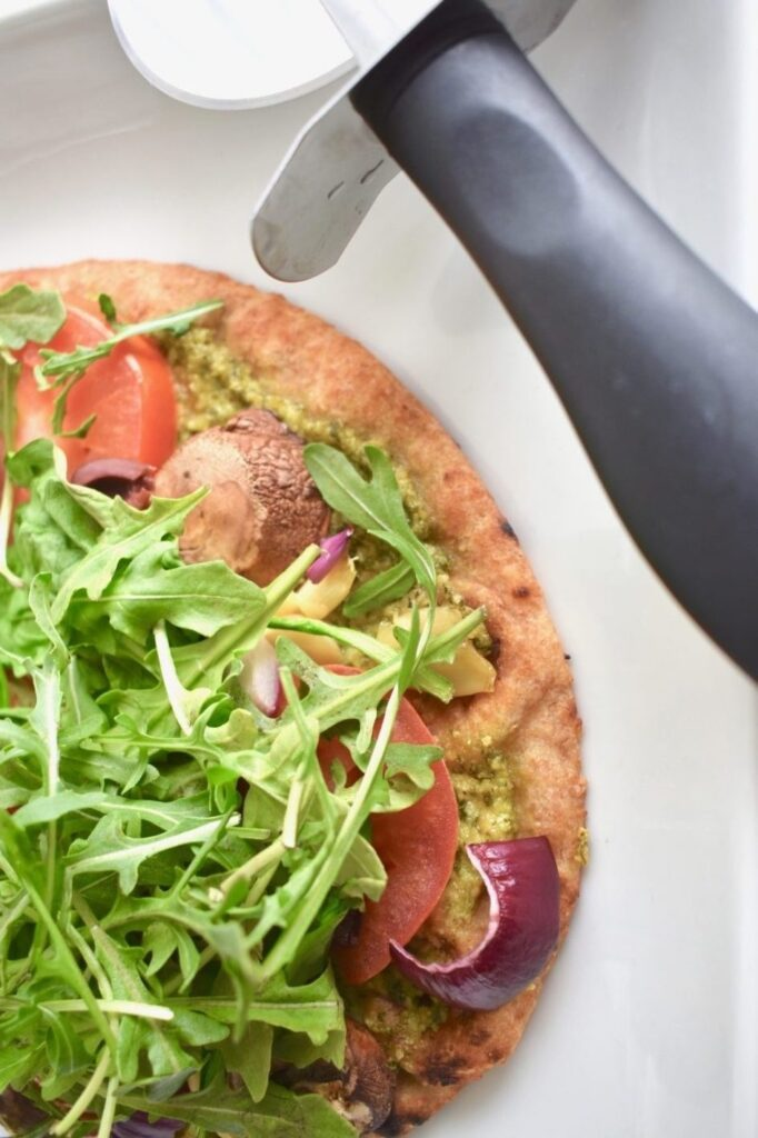 30 Ingenious Vegan Pizza Recipes - Vegan Pesto Naan| Hurry The Food Up