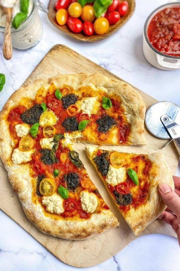 30 Ingenious Vegan Pizza Recipes - Vegan Pesto Pizza| Hurry The Food Up