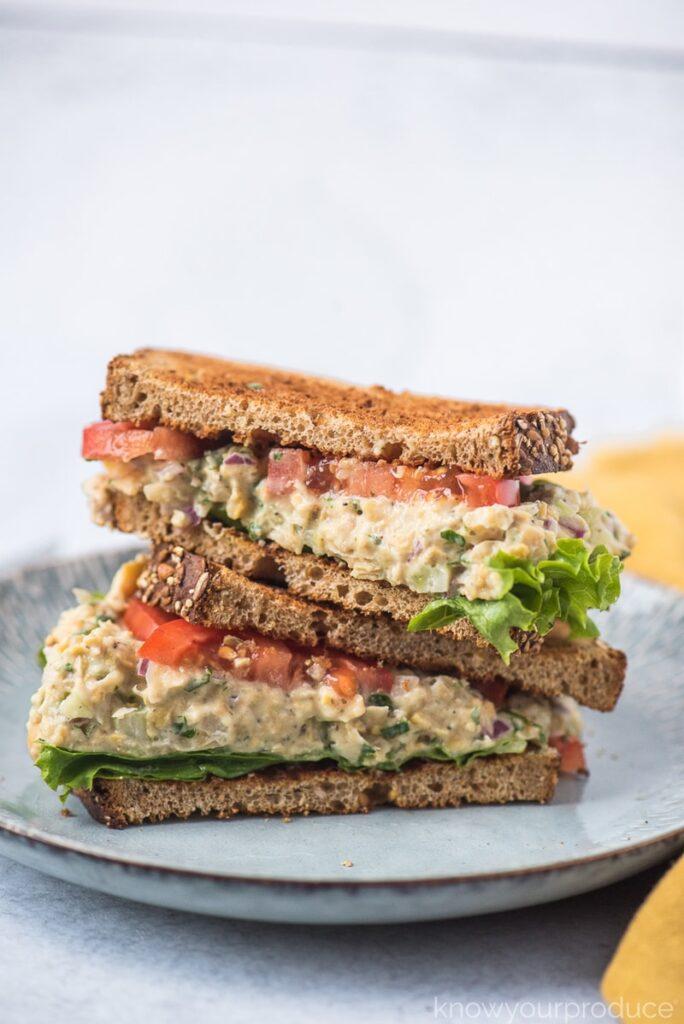 30 Best Vegan Sandwich Recipes - Vegan Tuna Salad Sandwich | Hurry The Food Up