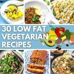 30 Low Fat Vegetarian Recipes- Feature Image | Hurry The Food Up