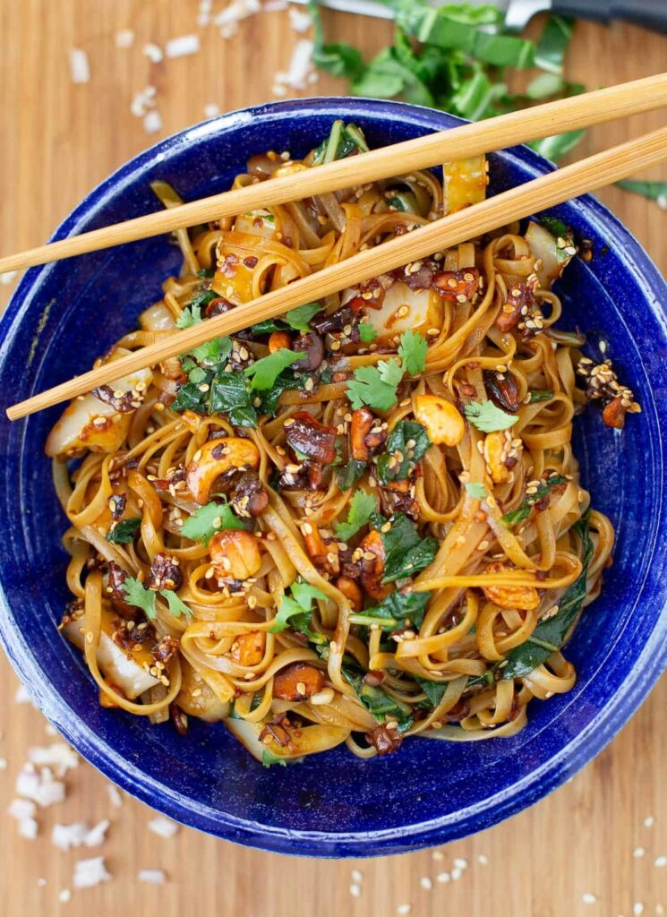 20 Delicious Vegan Chinese Recipes - Asian Noodles Lao Gan Ma | Hurry The Food Up