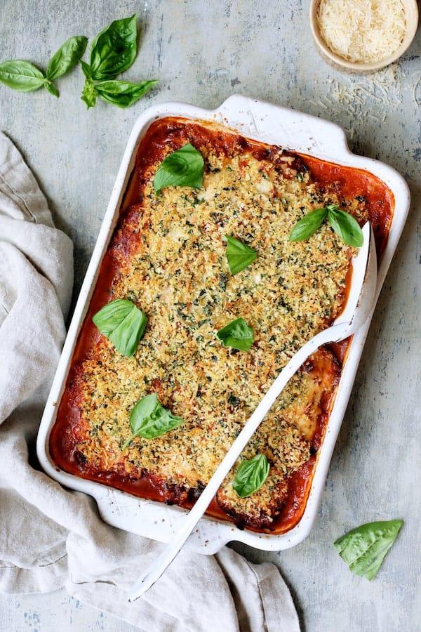 30 Vegetarian Italian Recipes - Italian Summer Vegetable Casserole   Hurry The Food Up