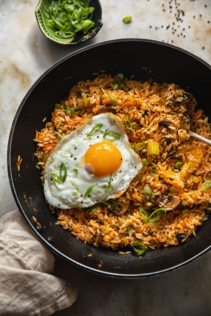 60 Perfect Vegetarian Dinner Recipes - Kimchi Fried Rice   Hurry The Food Up