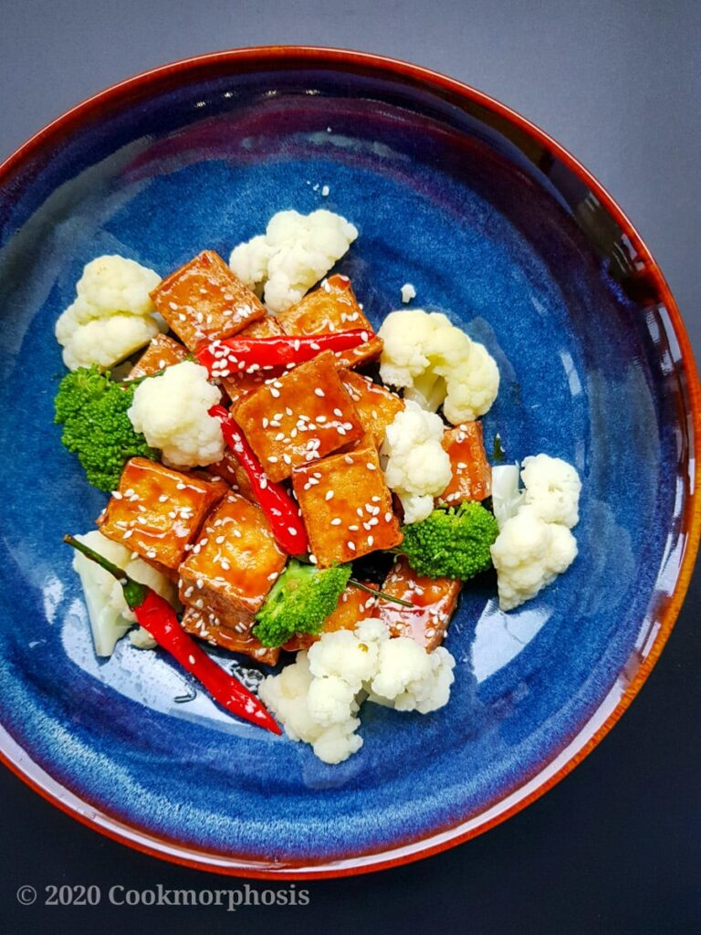 20 Delicious Vegan Chinese Recipes - Vegan Sesame Tofu | Hurry The Food Up