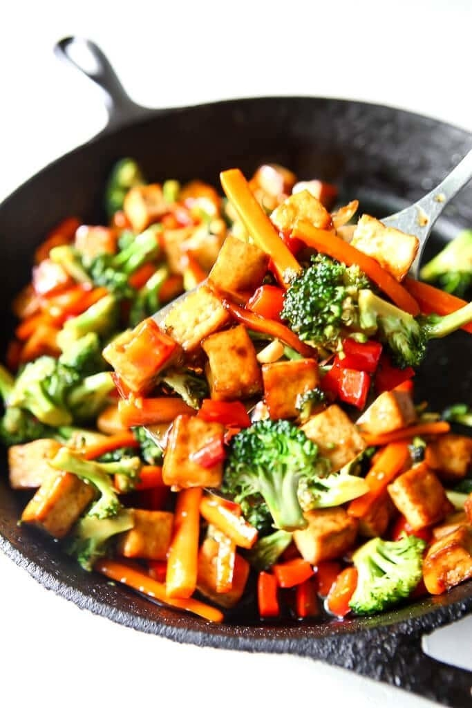30 Low Fat Vegan Recipes - Vegan Tofu Teriyaki | Hurry The Food Up